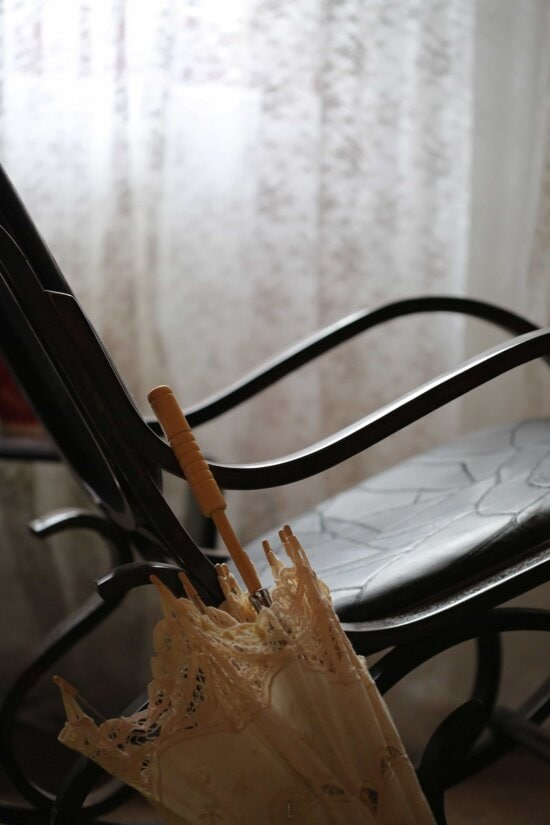 chair, fashion, living room, old style, umbrella, vintage, still life, indoors, art, old