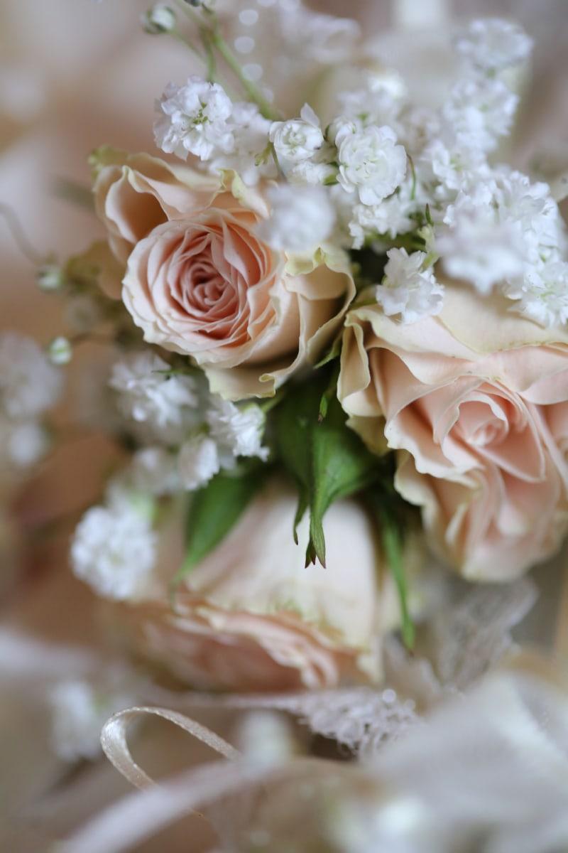 bouquet, pastel, romance, symbol, wedding bouquet, white, roses, flowers, love, decoration