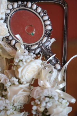 craft, handmade, jewelry, mirror, pears, reflection, wedding ring, wedding, romance, love