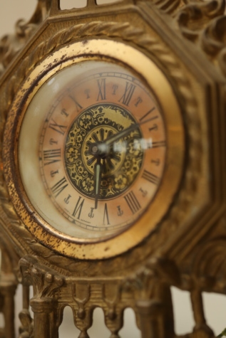 analog clock, artwork, baroque, bronze, golden glow, handmade, old, vintage, precision, clock