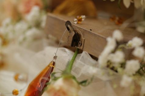 коробка, деталь, ручной работы, Замок, Свадьба, размытие, традиционные, натюрморт, в помещении, романтика