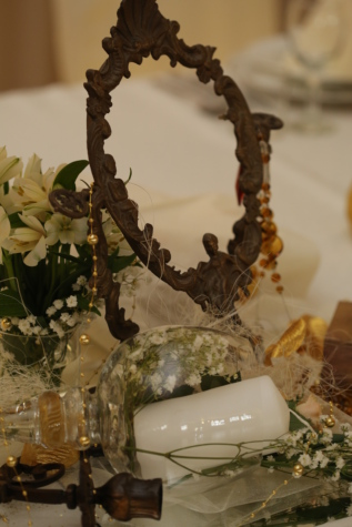 antiquity, baroque, bouquet, brass, candle, flowers, mirror, vase, wedding, flower