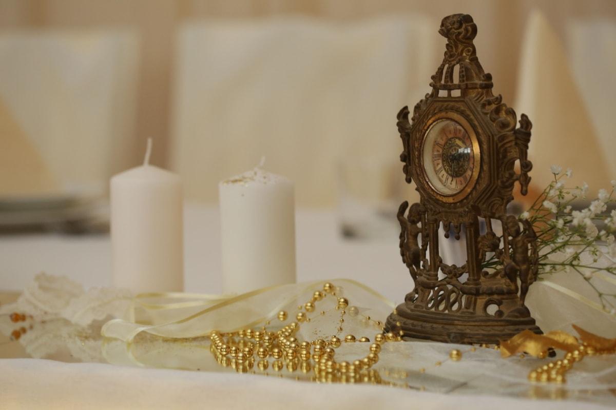 아날로그 시계, 예술, 양 초, 골드, 실내 장식, 보석, 목걸이, 배, 조각, 캔 들