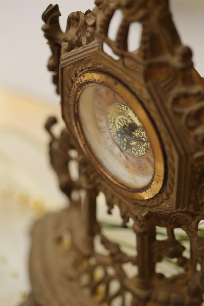 analog clock, analogue, antique, antiquity, baroque, handmade, mechanism, old, clock, time