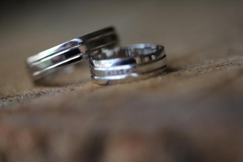close-up, handmade, platinum, reflection, wedding ring, steel, blur, still life, industry, indoors