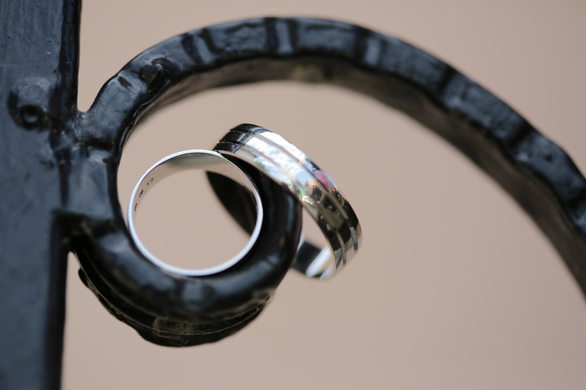 cast iron, handmade, reflection, rings, wedding ring, old, antique, retro, vintage, steel