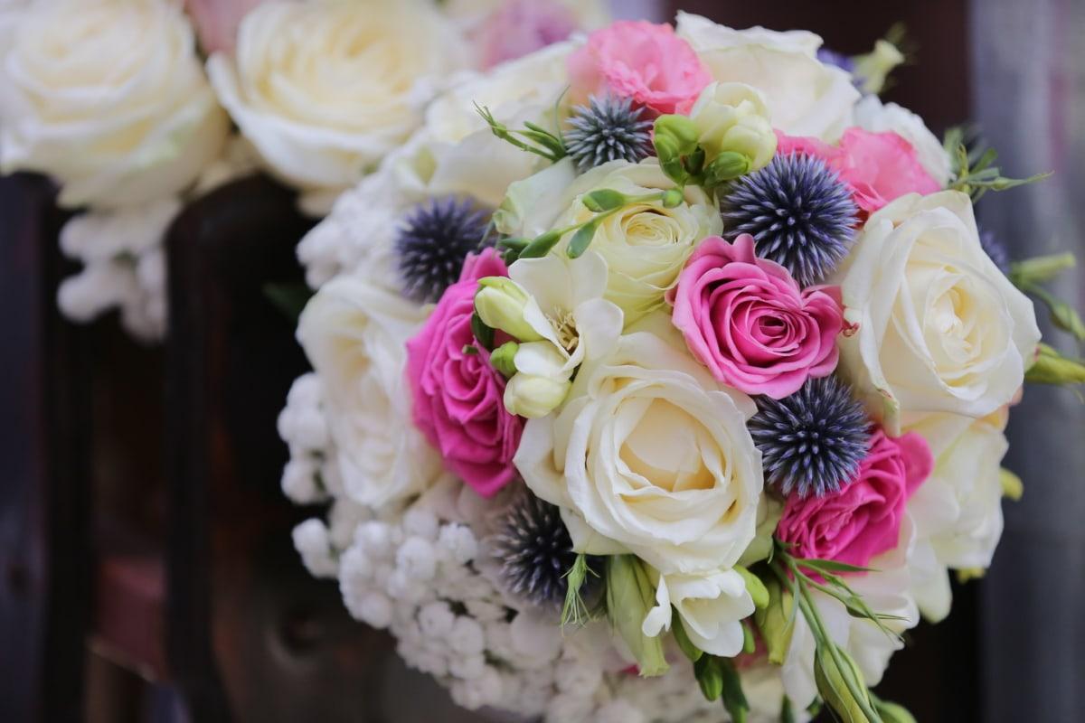 bouquet, gift, marriage, wedding bouquet, bride, wedding, rose, romance, arrangement, flower