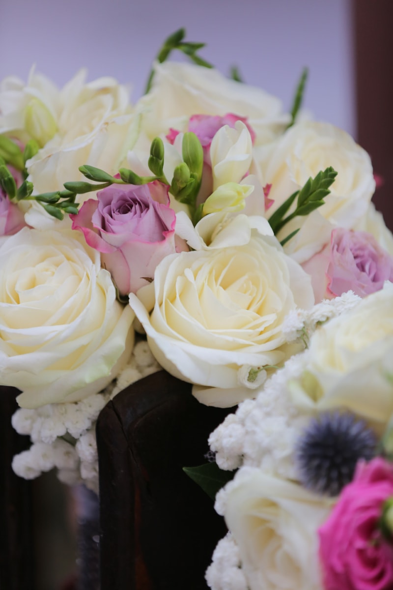 elegance, marriage, roses, wedding bouquet, white flower, arrangement, love, bouquet, wedding, rose