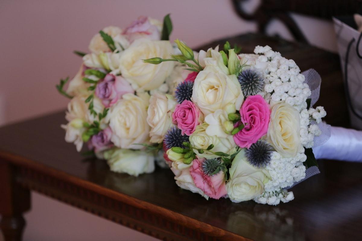 bouquet, decorative, desk, elegance, fashion, furniture, still life, wedding bouquet, romance, wedding