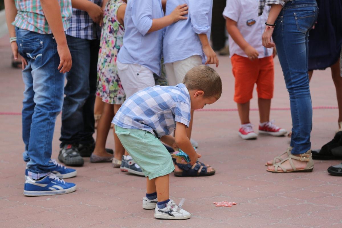 childhood, crowd, fashion, fun, joy, playground, child, street, girl, people