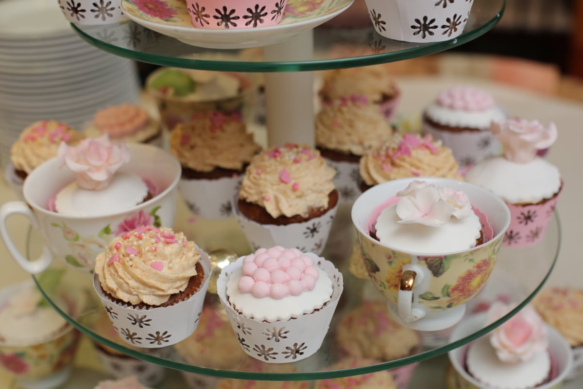 biscuit, cupcake, dining area, mug, shop, confectionery, cake, dessert, food, sugar