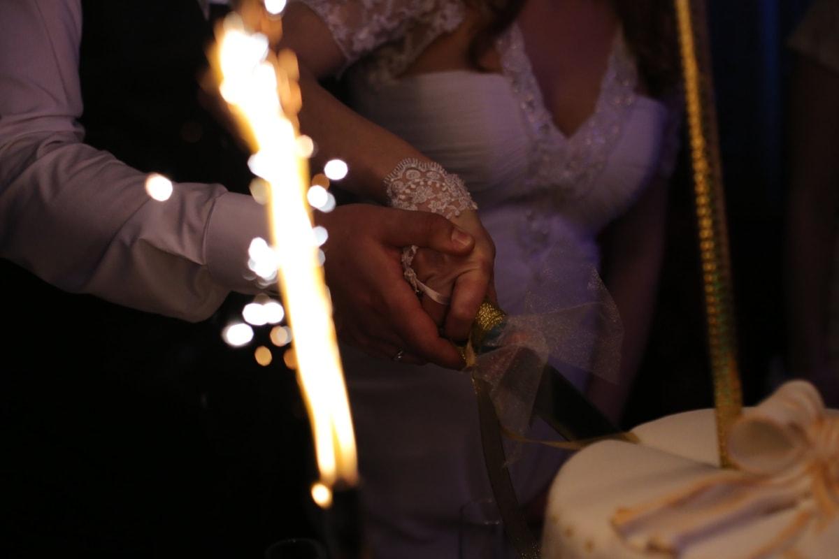celebration, ceremony, cutting, event, knife, marriage, wedding, wedding cake, wedding dress, wedding ring