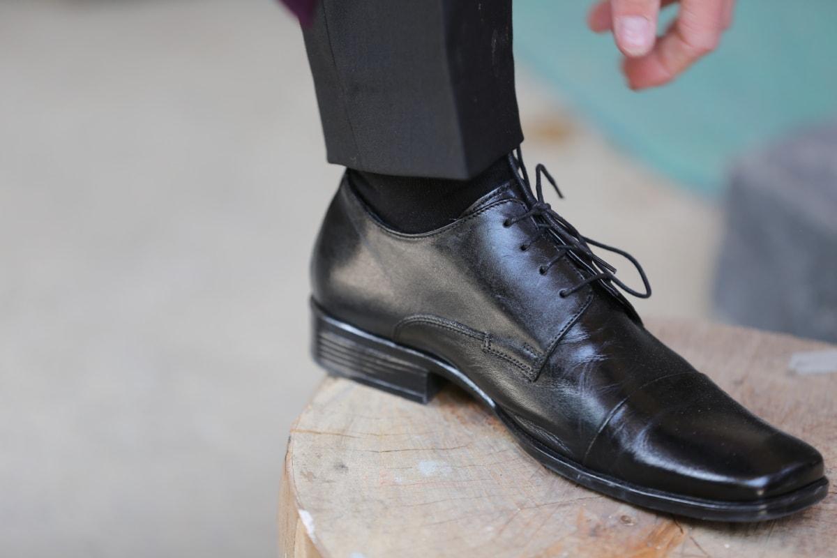 black, businessman, elegance, fashion, leather, pants, shoe, footwear, shoes, clothing