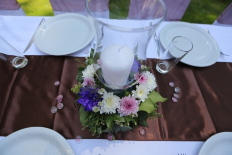 dining, flower, knife, bouquet, flowers, table, romance, cutlery, reception, tableware
