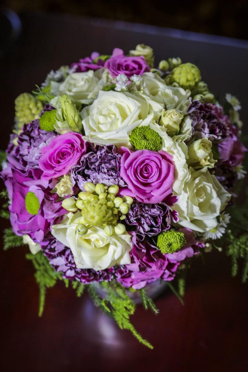 bouquet, colorful, pastel, pinkish, purplish, roses, wedding bouquet, rose, arrangement, decoration