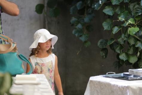 dijete, haljina, elegancija, glamur, šešir, portret, lijepa djevojka, sa strane, suknja, ljudi