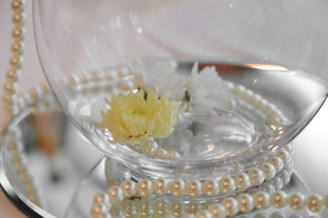 crystal, elegance, flower, glass, jewelry, mirror, necklace, pears, luxury, wedding