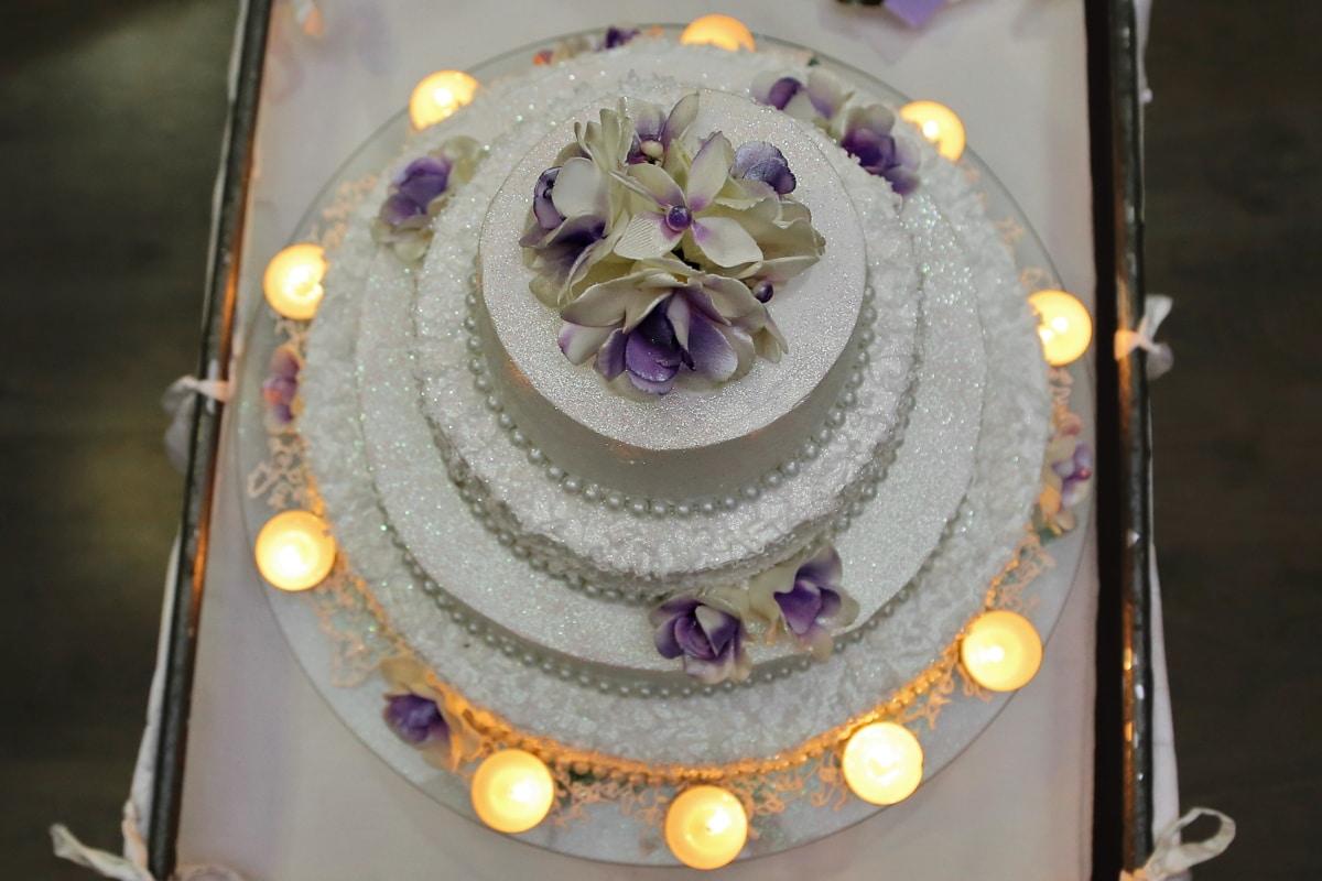 candlelight, candles, elegance, glamour, luxury, wedding, wedding cake, decoration, plate, celebration