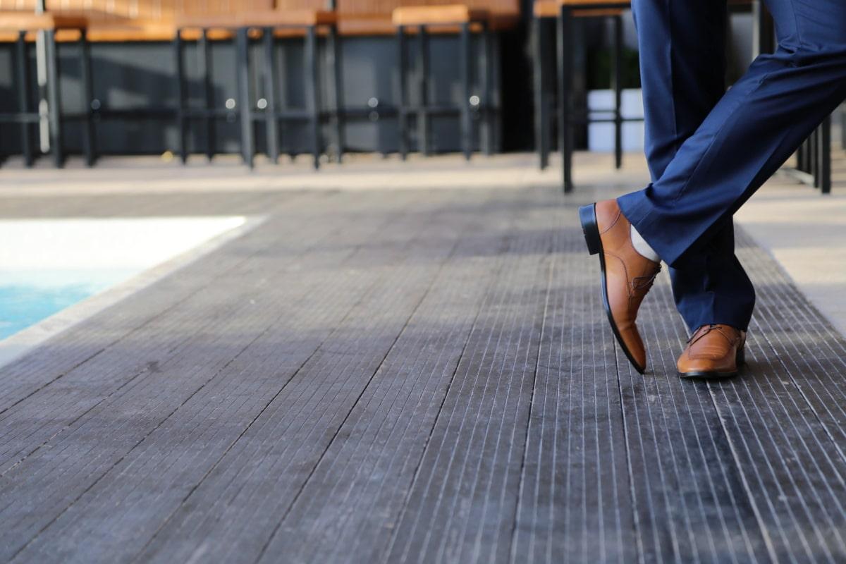 businessman, fashion, leather, luxury, posing, shoes, suit, swimming pool, sidewalk, city