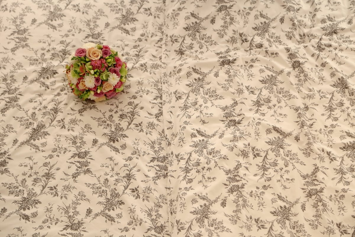 bed, cotton, design, ornamental, wedding bouquet, flower, pattern, decoration, card, decorative