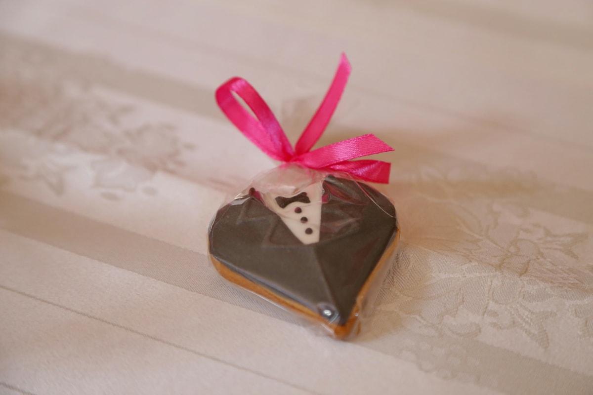 cookie, groom, wedding, ribbon, love, still life, gift, celebration, anniversary, romance
