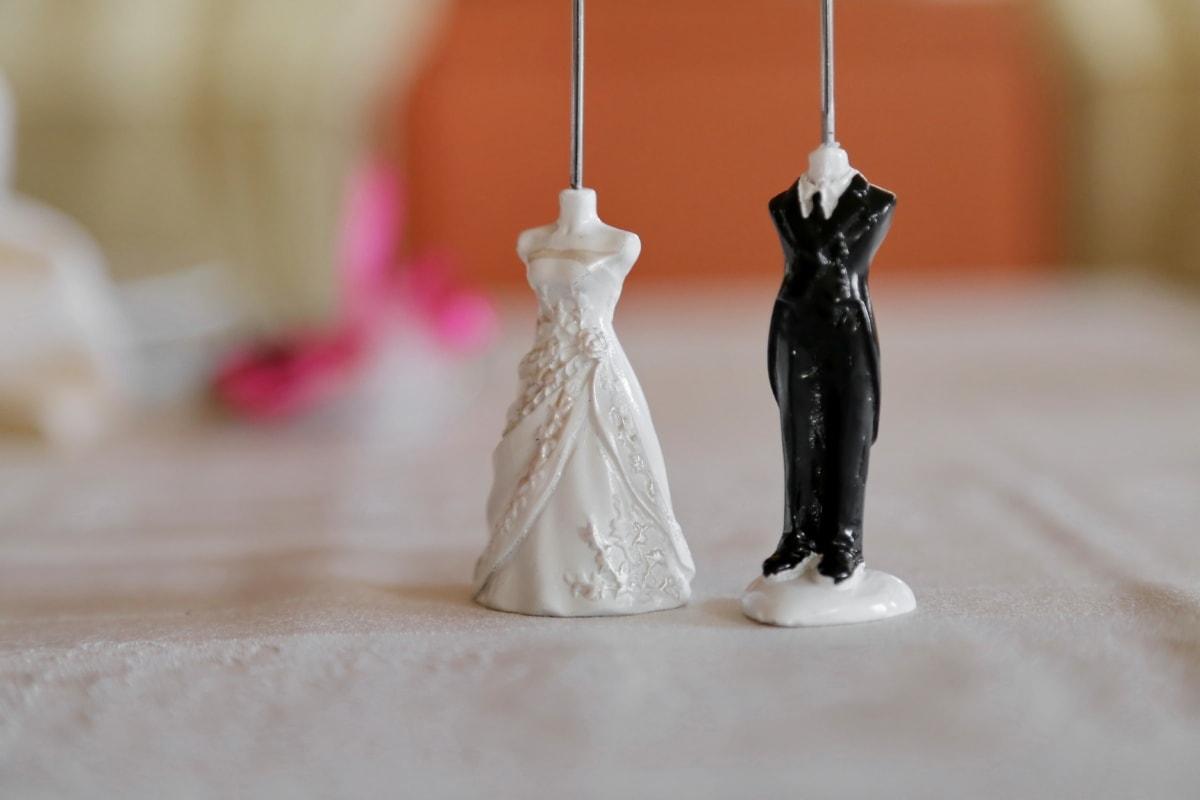 bride, ceramics, figurine, groom, handmade, miniature, porcelain, shape, sticks, unique