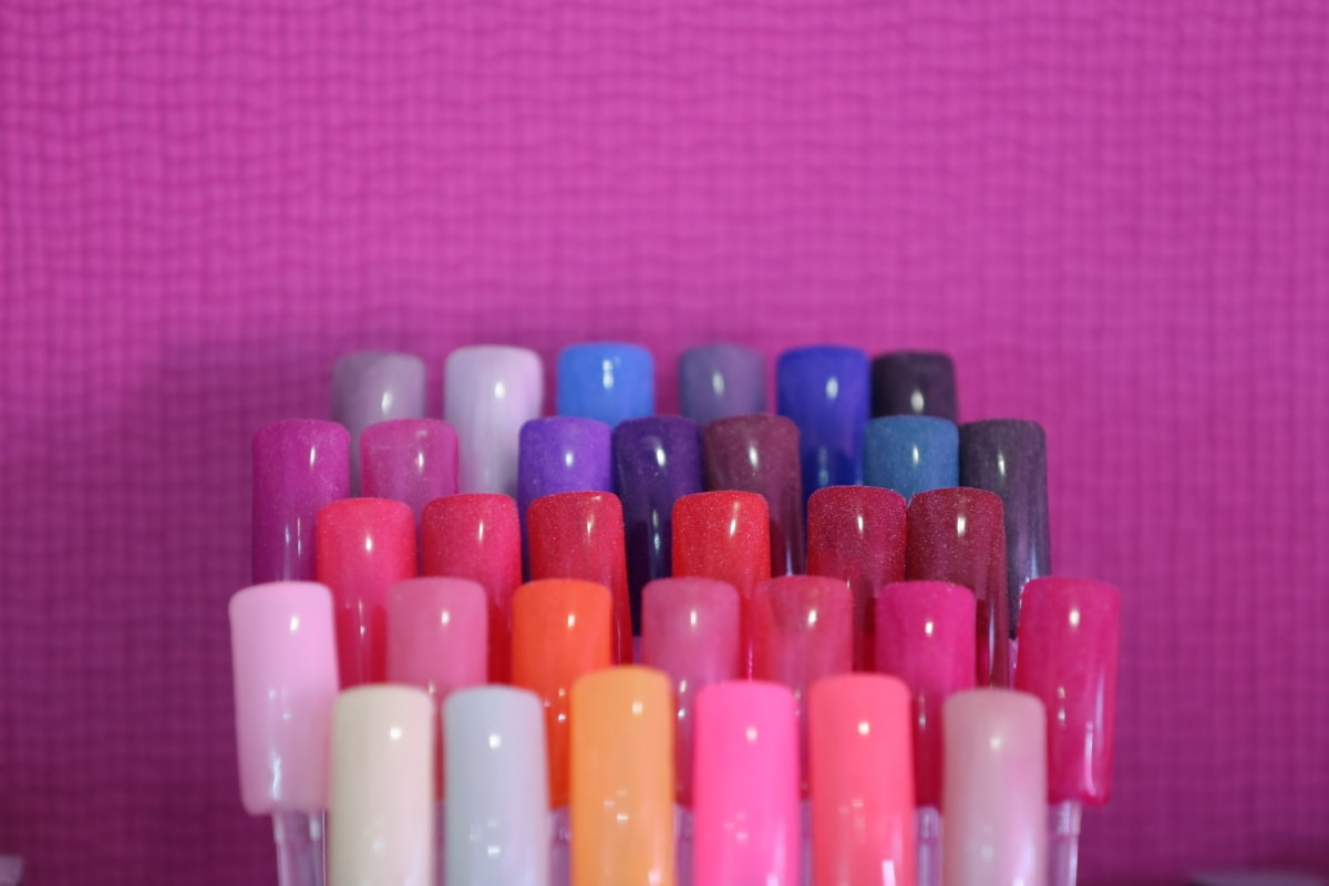 close-up, colorful, cosmetics, details, manicure, products, plastic, treatment, color, indoors