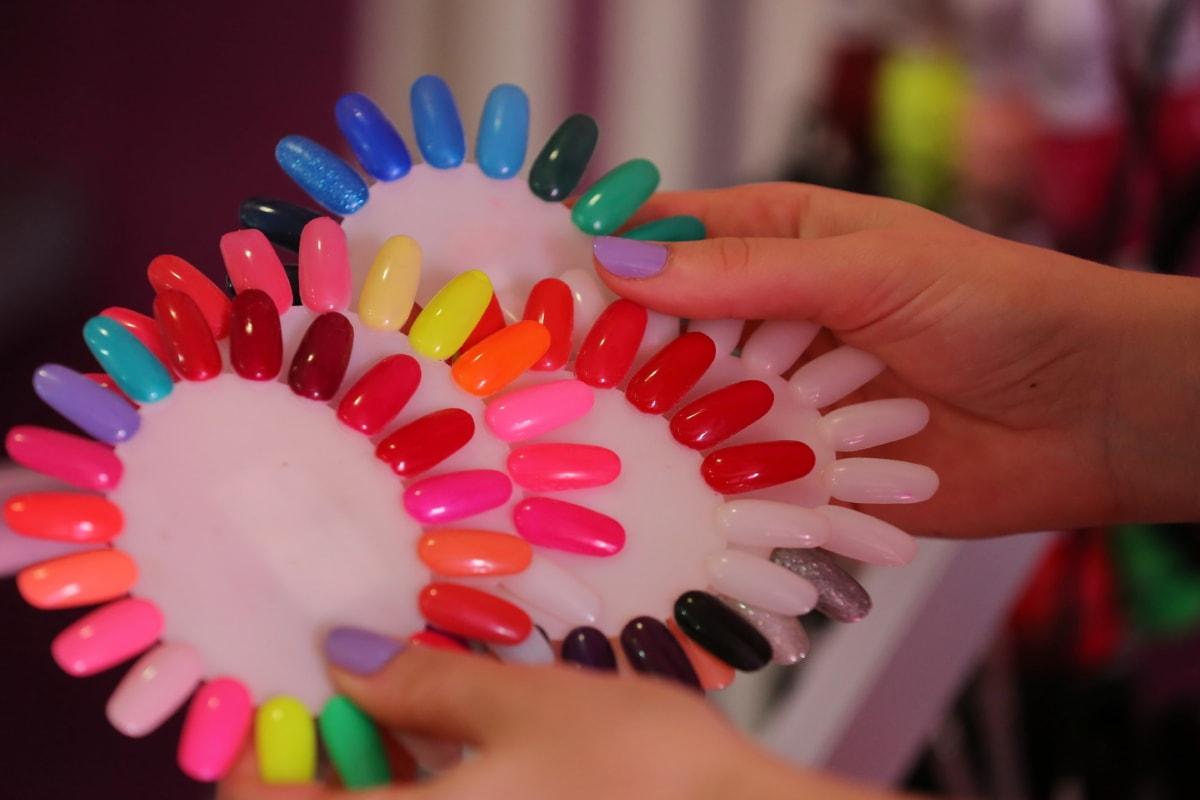 colorful, cosmetics, finger, hands, manicure, plastic, salon, skin, skincare, treatment