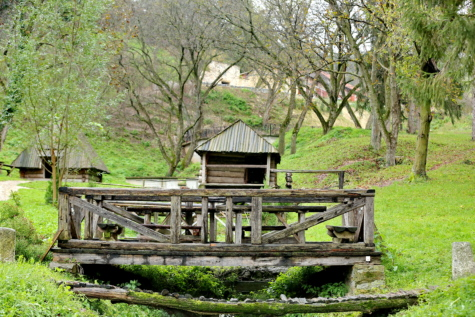 bridge, cottage, countryside, hillside, rural, village, nature, wooden, tree, wood