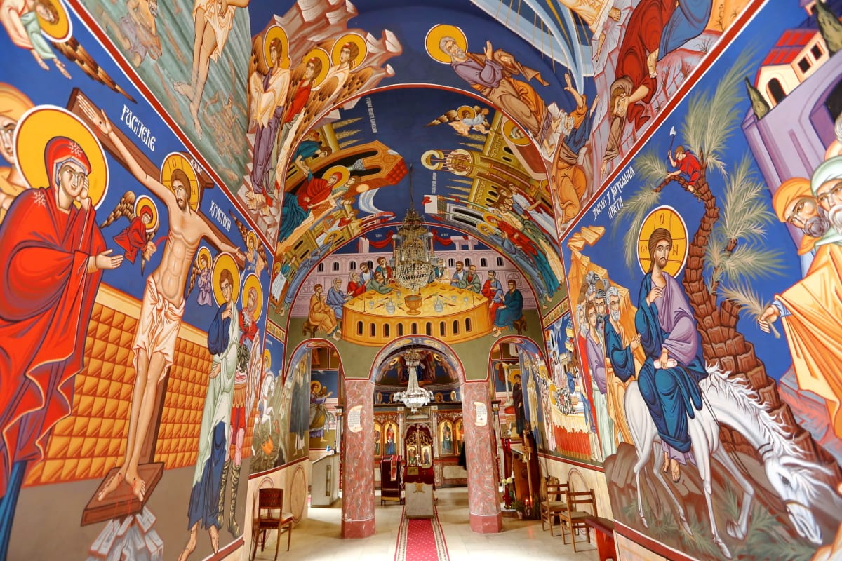 Hristos, creştinism, Arte plastice, interior, pictura murala, ortodoxe, sfânt, Biserica, arhitectura, Catedrala