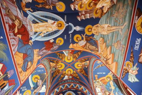 ceiling, Christ, christian, christianity, fine arts, mural, saint, spirituality, art, illustration