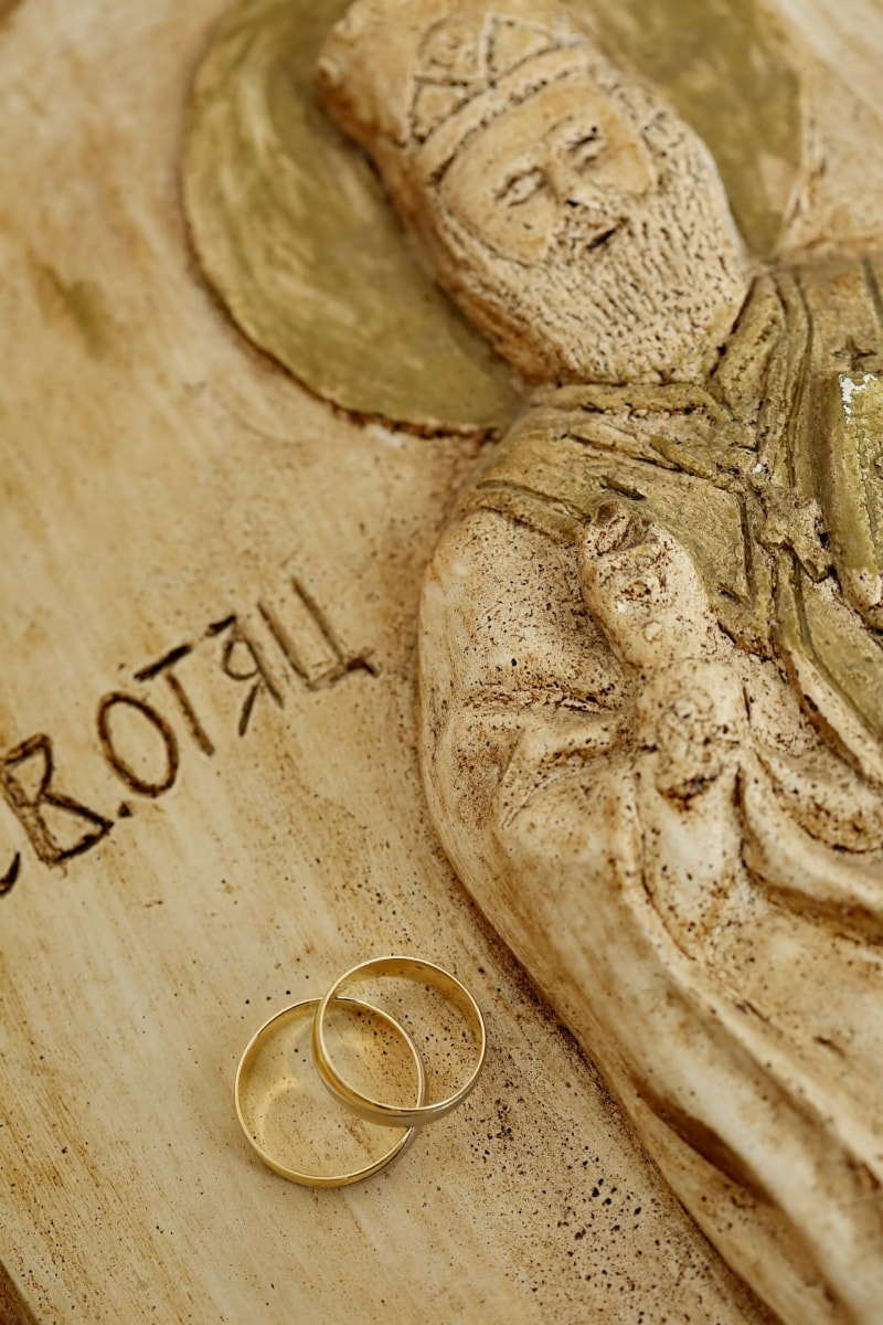 artistic, christianity, figurine, fine arts, gold, icon, orthodox, religion, rings, sculpture