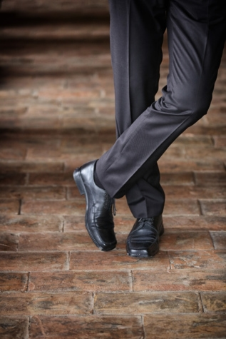 black, bricks, businessman, cashmere, elegance, pants, posing, shoes, footwear, shoe