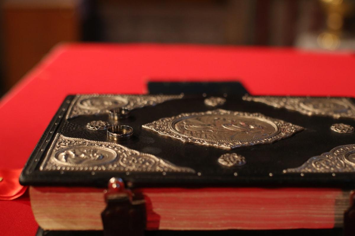 book, event, hardcover, knowledge, wedding, wedding ring, wisdom, buckle, device, fastener