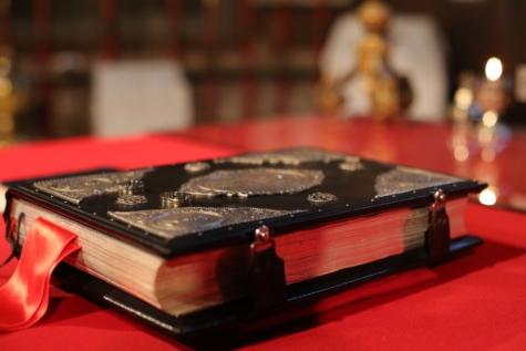 Buch, Feier, Zeremonie, Christentum, goldener Schein, gebundene Ausgabe, Religion, geistigkeit, Hochzeit, Ehering