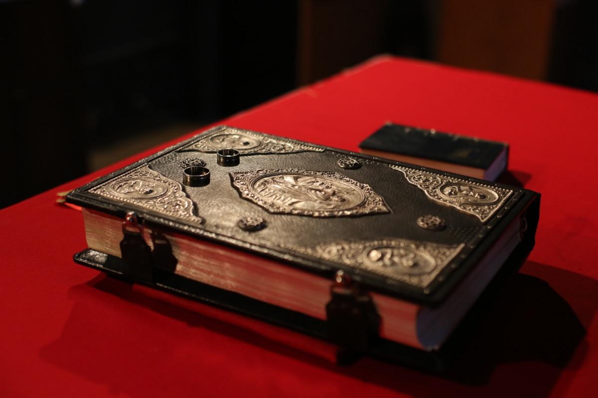 livro, Bizantina, capa dura, ornamento, religião, ritual, espiritualidade, anel de casamento, couro, jóias