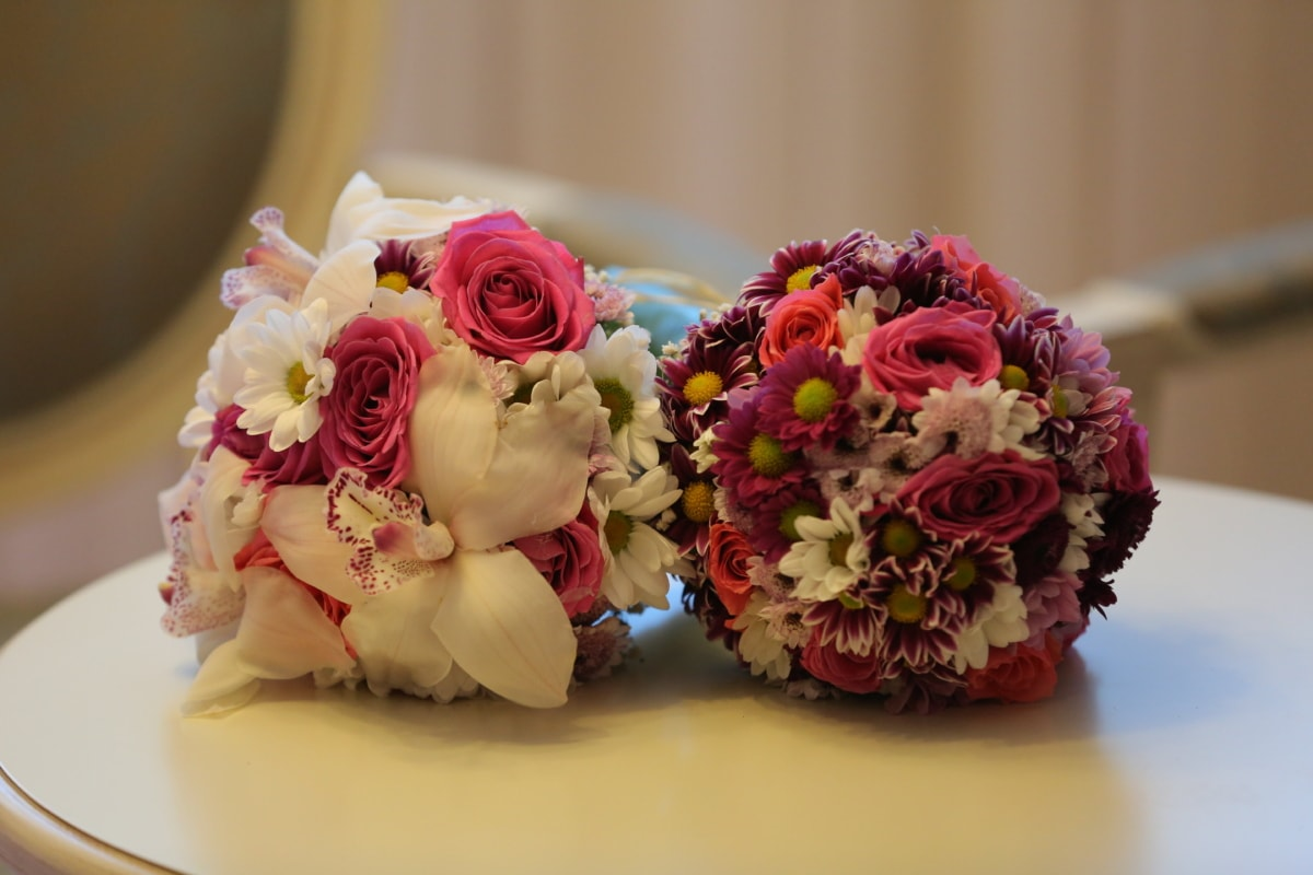 elegance, handmade, interior decoration, lily, roses, wedding bouquet, flower, decoration, bouquet, romance
