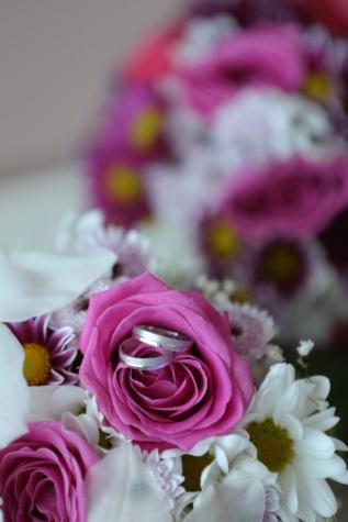 mariage, rituel, tradition, bouquet de mariage, bague de mariage, Rose, arrangement, Rose, bouquet, décoration