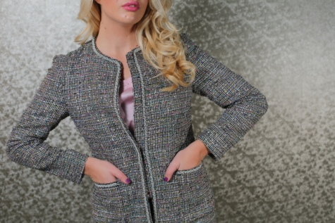 blonde hair, businesswoman, glamour, gorgeous, hairstyle, jacket, knitwear, lips, makeup, clothing