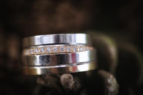 бриллиант, золото, Жемчужина, ювелирные изделия, Платина, отражение, Кольца, натюрморт, в помещении, размытие