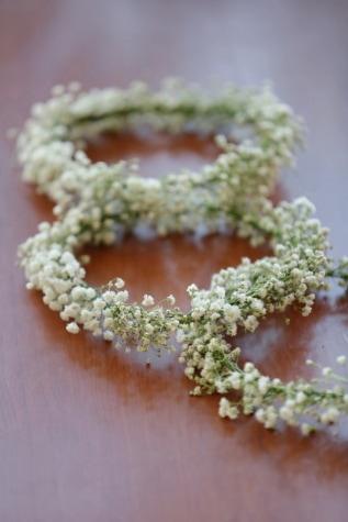 κύκλος, από κοντά, διακόσμηση, διακοσμητικά, χειροποίητο, σχήμα, λευκό λουλούδι, Yarrow, ξύλο, Νεκρή φύση