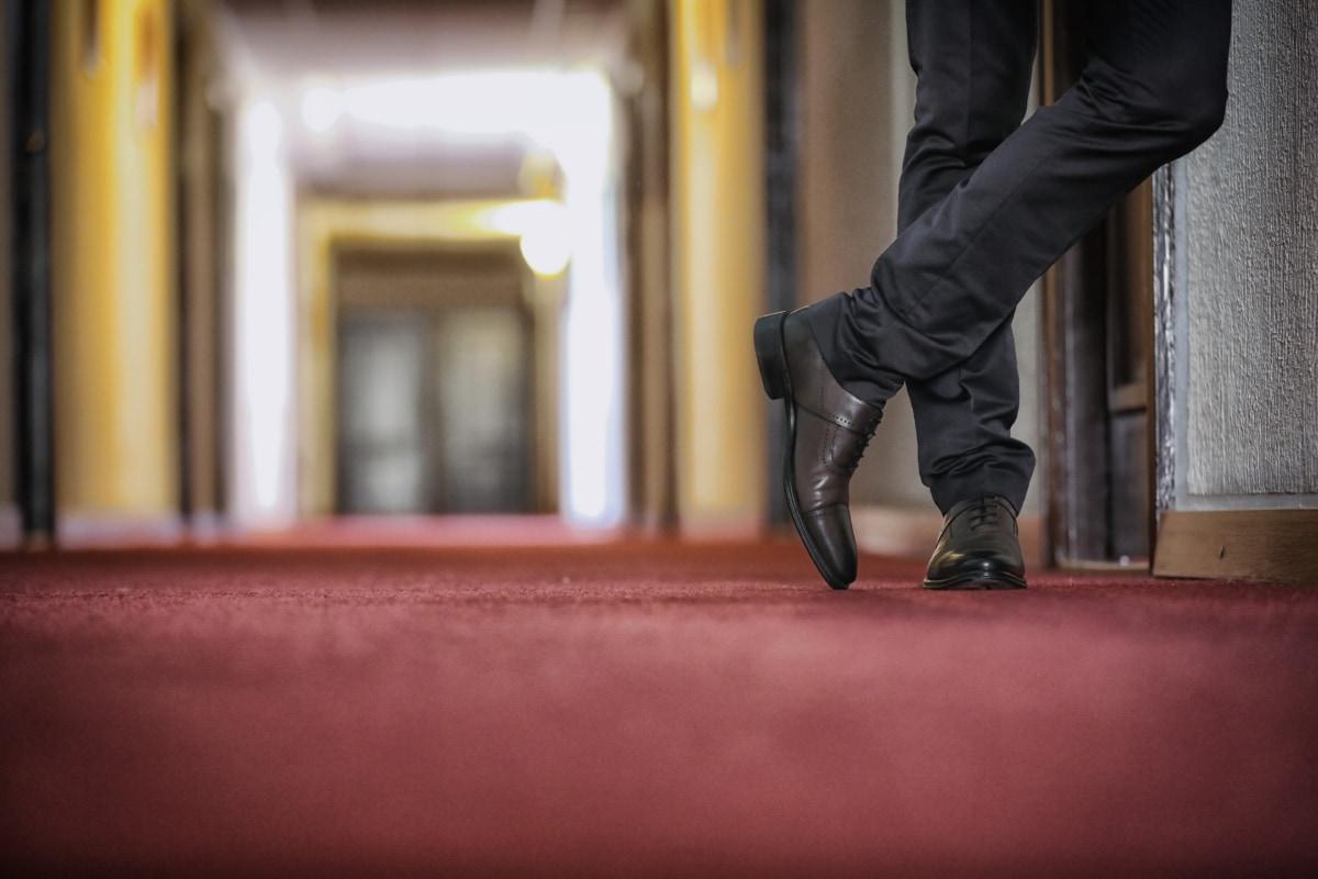 pebisnis, mode, lorong, Hotel, kaki, Celana, karpet merah, Sepatu, kaki, Laki-laki