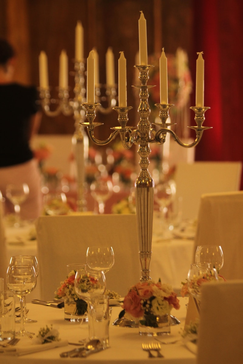 baroque, candles, candlestick, dining area, elegance, luxury, restaurant, glass, candle, dining
