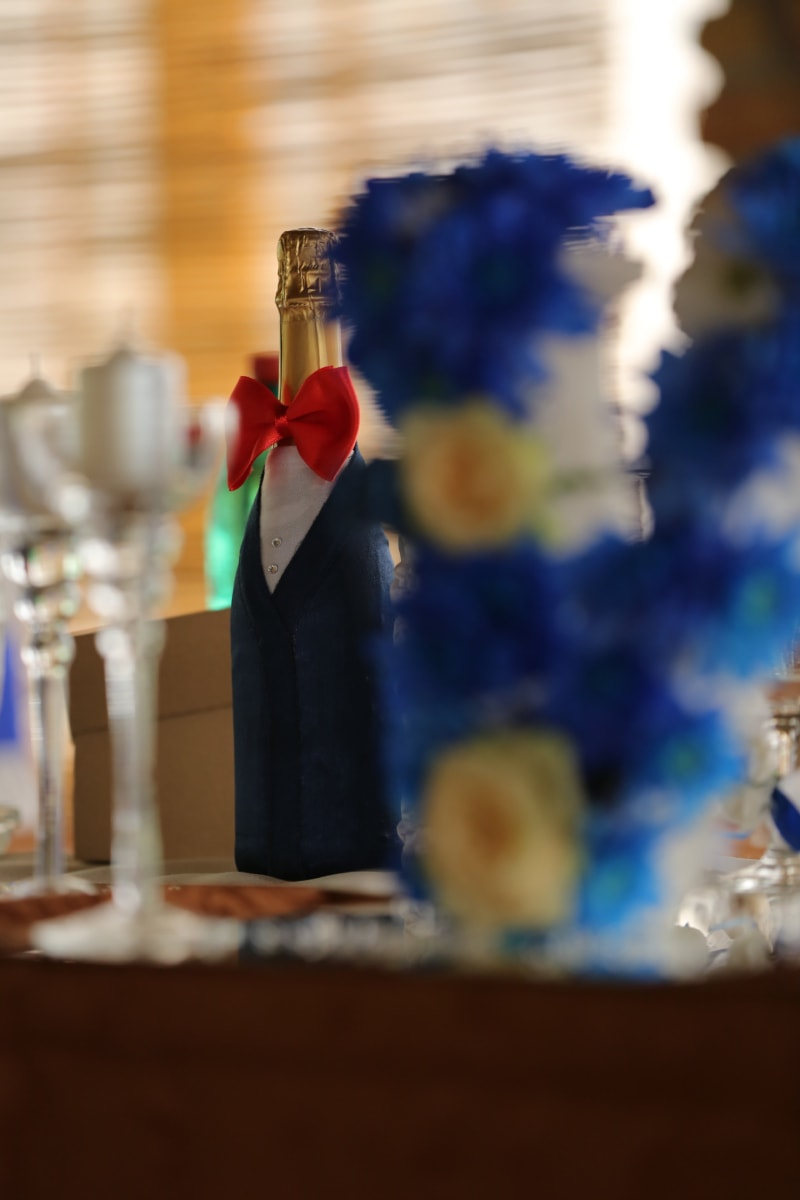champagne, decoration, party, wedding, white wine, celebration, flower, blur, indoors, traditional