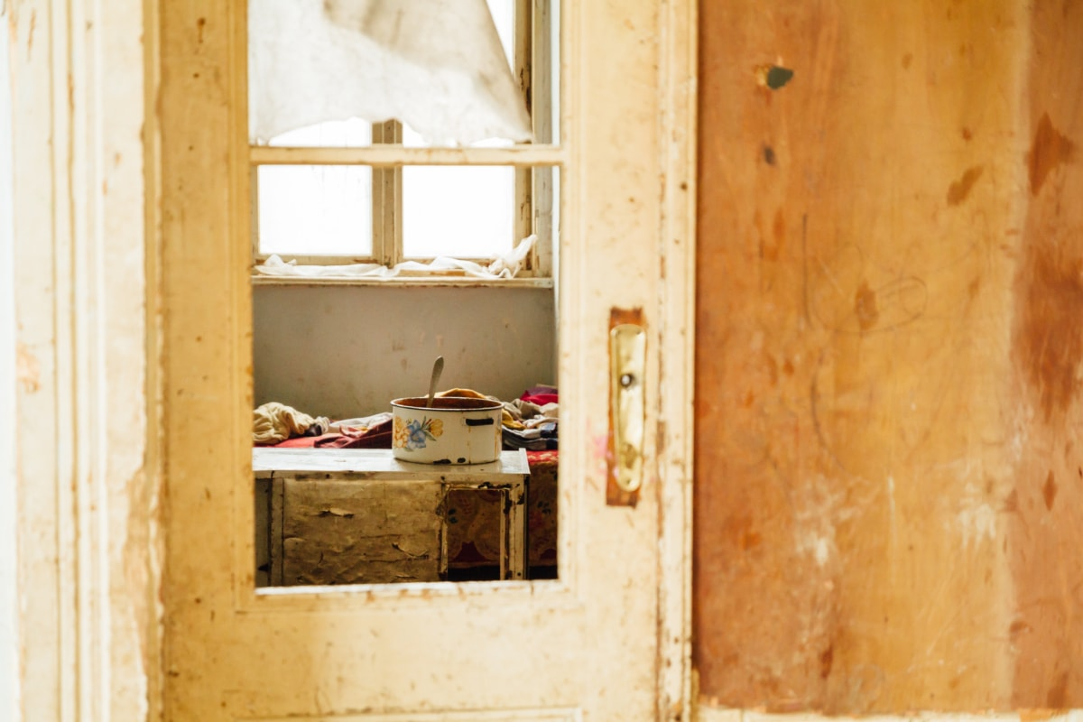 poverty, house, lunch, old, wall, door, architecture, texture, building, furniture