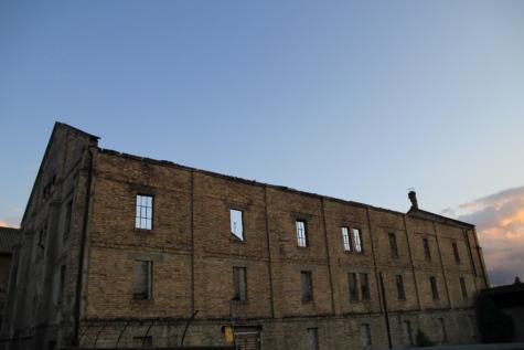 Magazyn, porzucone, ściany, cegły, obszar miejski, ściana, architektura, stary, budynek, starożytne
