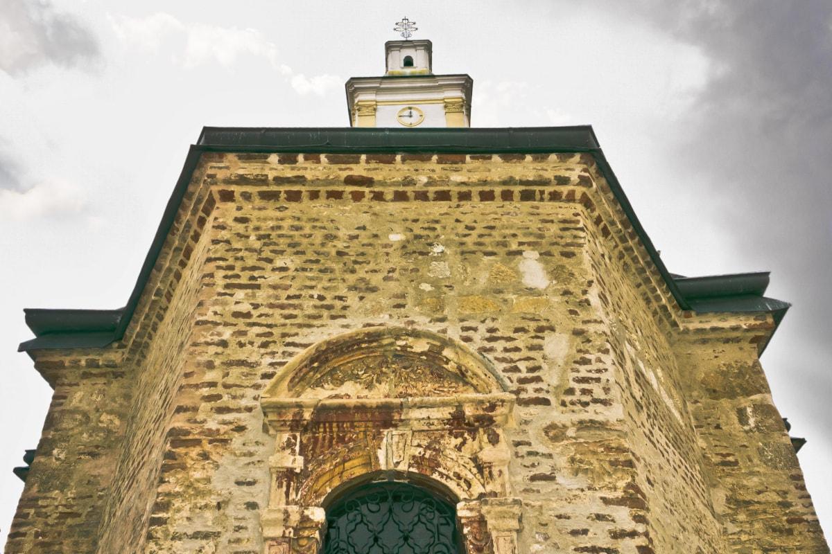 medieval, church tower, church, window, Byzantine, orthodox, monastery, building, religion, architecture
