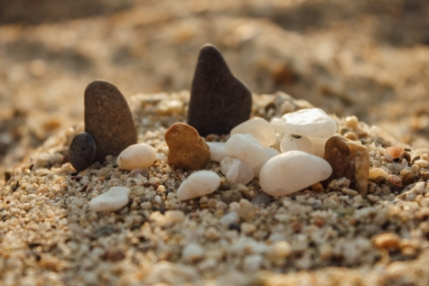 beach, sand, pebble, zen, gravel, nature, rock, blur, ground, dry
