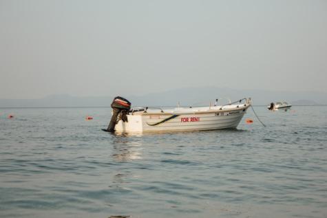 моторний човен, двигун, човен, спокій, океан, води, пристрій, море, пляж, корабель
