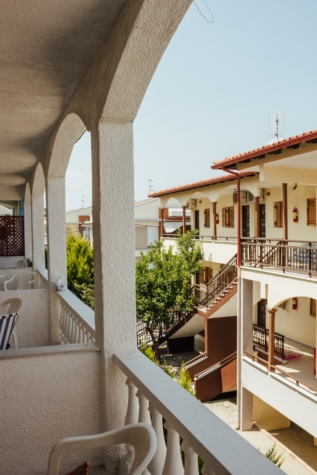 balcony, hotel, greece, tourism, resort area, architecture, building, structure, house, home